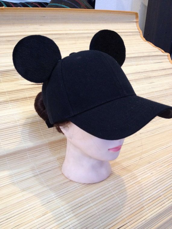 7c12c46b501 Adult Mickey Mouse Ears Baseball Cap