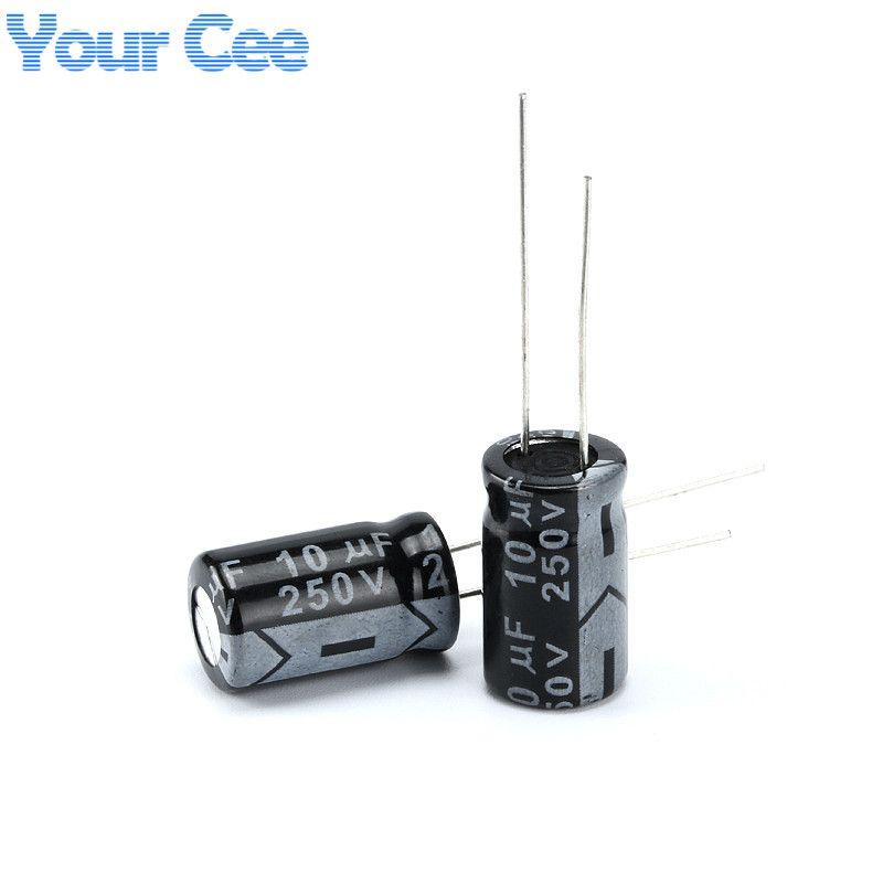 20 Pcs Electrolytic Capacitors 250v 10uf 10x17mm Aluminum Electrolytic Capacitor Affiliate Capacitors Electrolytic Capacitor Capacitor