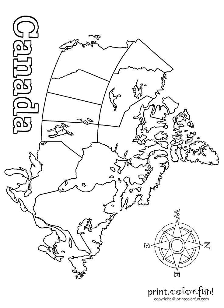map of canada print color fun free printables coloring pages crafts puzzles cards to. Black Bedroom Furniture Sets. Home Design Ideas