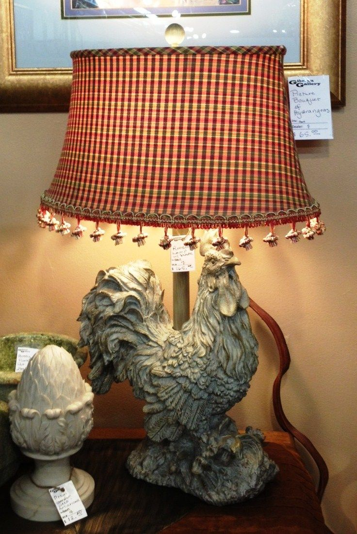 Lamp Shades Near Me Enchanting Upscale Rooster Lamp With A Custom Lamp Shade That Cost Twice The Inspiration Design