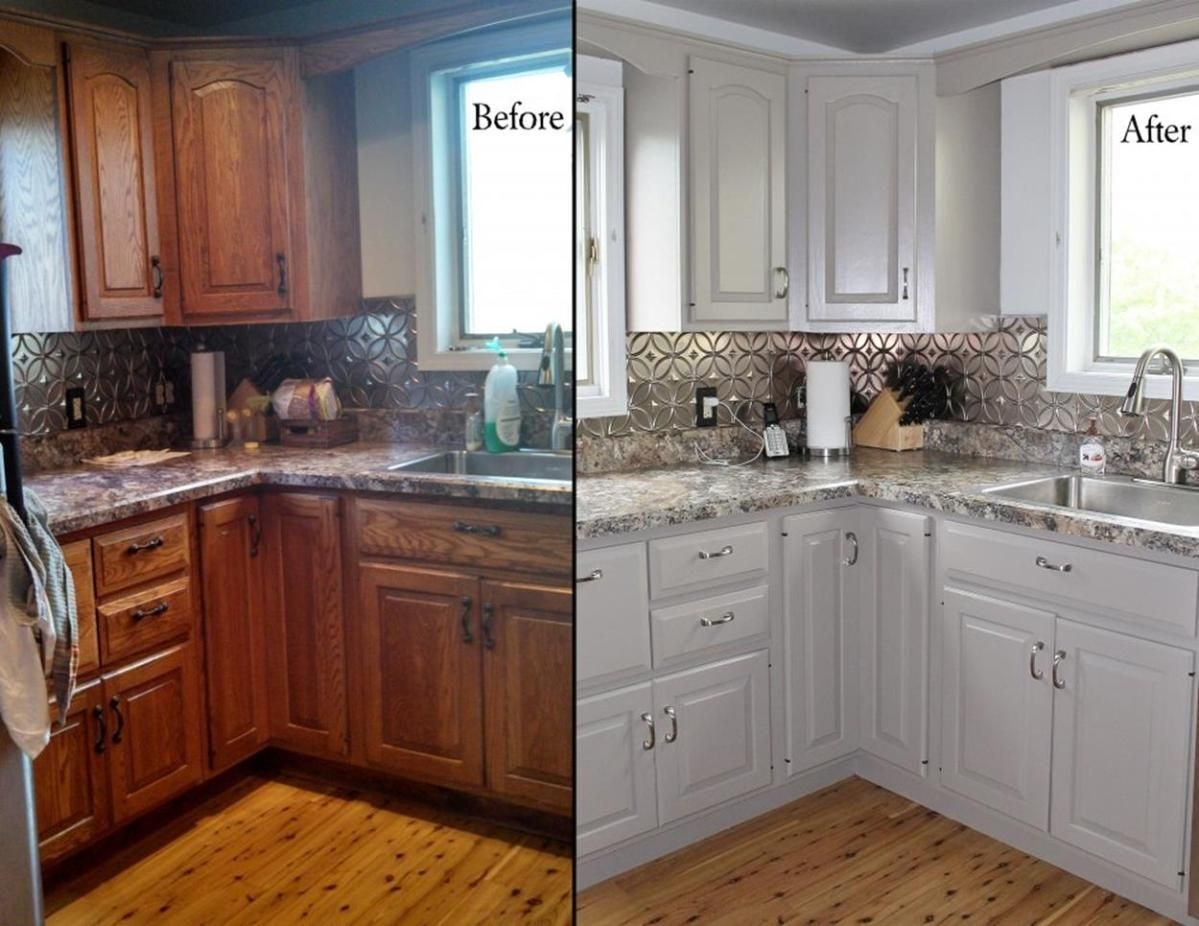 Kitchen Cabinets Painted White Before And After 34 Viral Decoration Kitchen Cabinets Before And After New Kitchen Cabinets Old Kitchen Cabinets