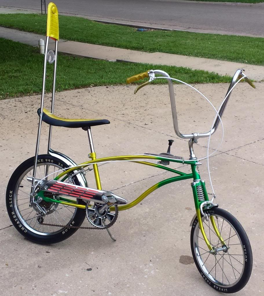 Cruiser Lowrider Bicycle Green Old School Sparkle Grips Chopper Bike Cycling