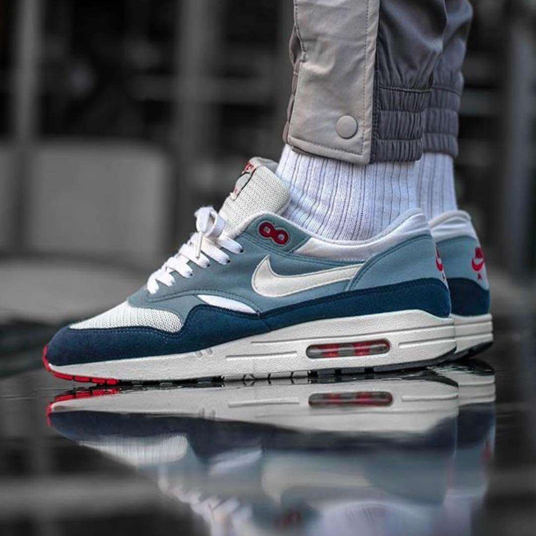 "0⃣4⃣ Nike Air Max 1 ""Greystone"" , worn by @morse_one ! How"