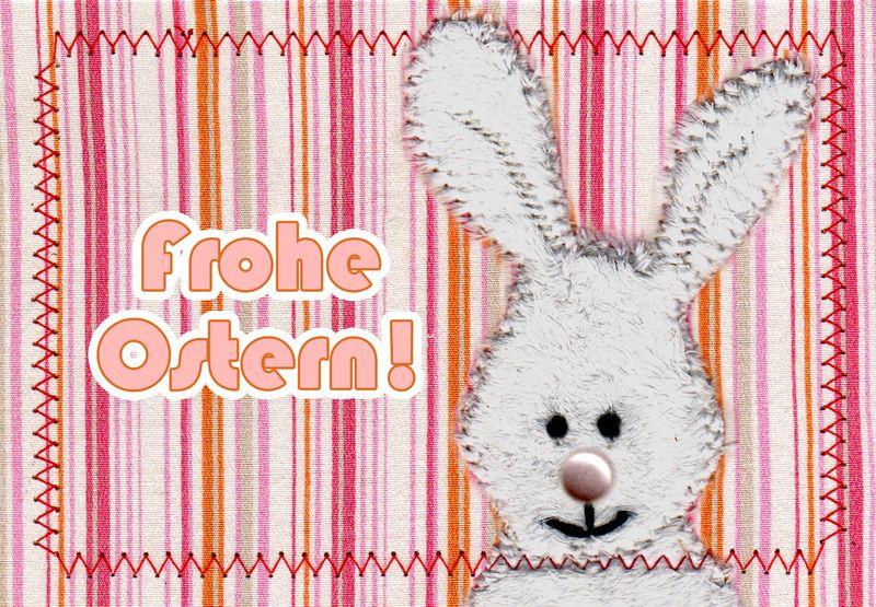 "Postkarte ""Frohe Ostern!"" NaseHase von Telse Ahrweiler       Kunst + Design auf DaWanda.com"