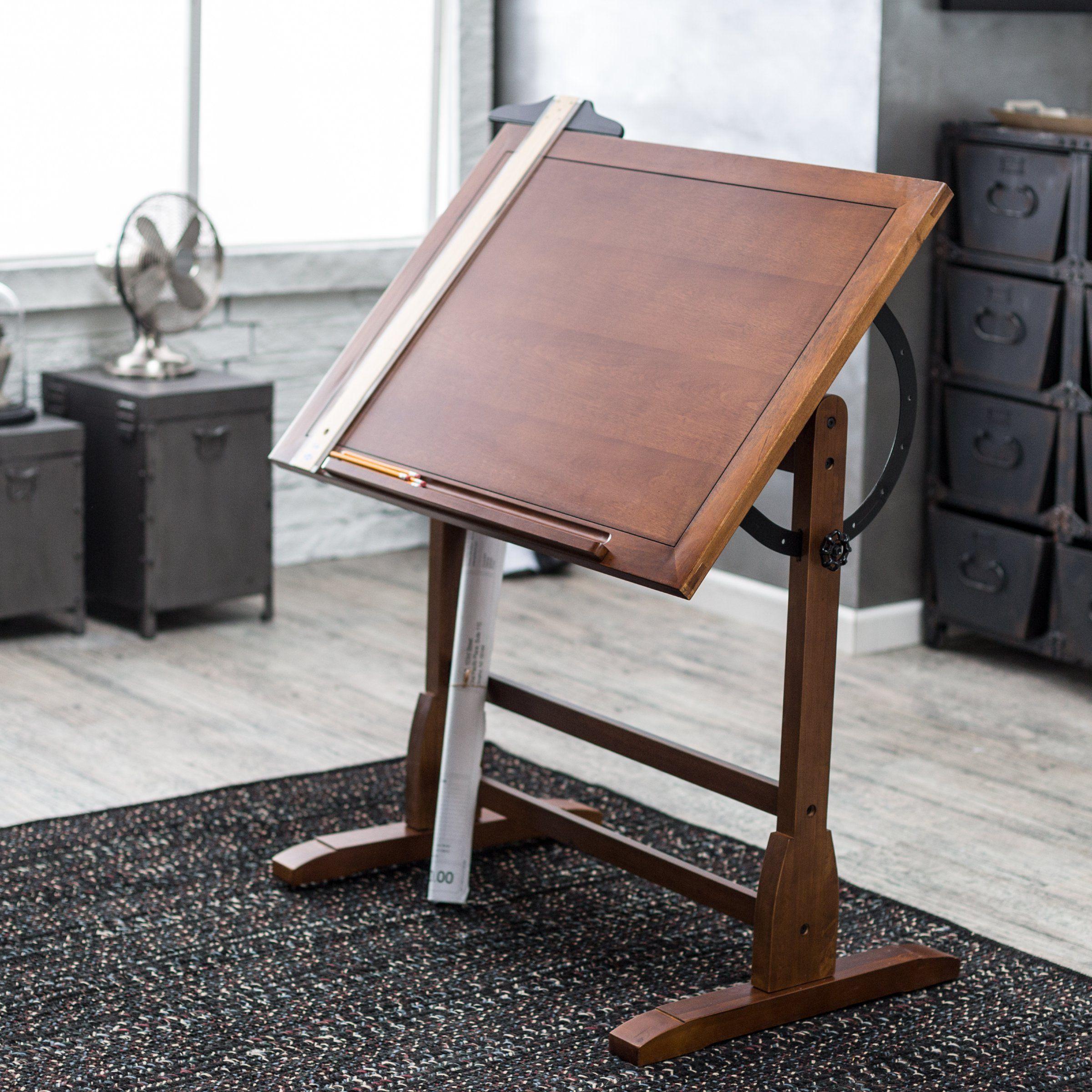 Studio Designs Vintage Drafting Table Rustic Oak Drafting
