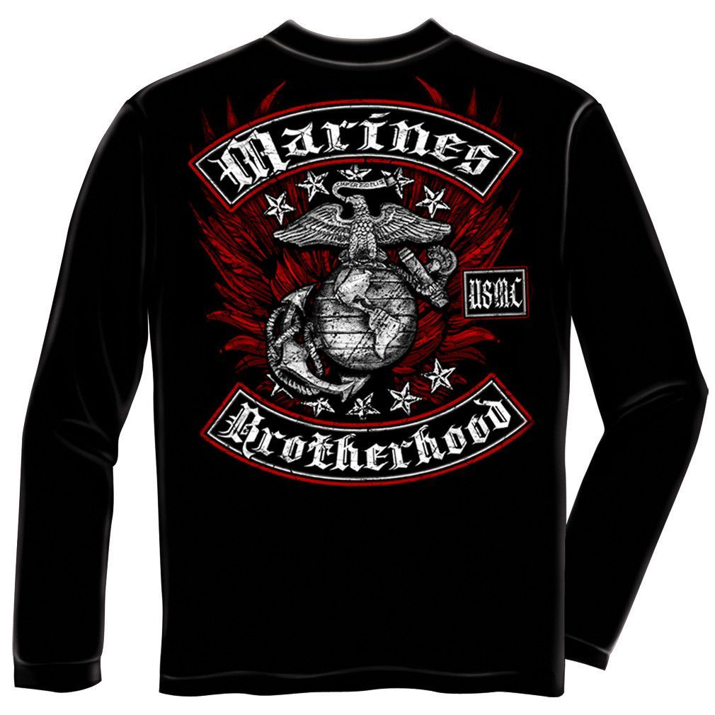 MARINE BIKER WITH ROCKERS FOIL STAMP Adulting shirts
