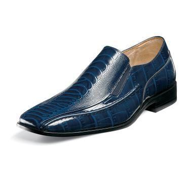 Details about Men's Stacy Adams Dress Shoes GARZON 25028 Navy Blue