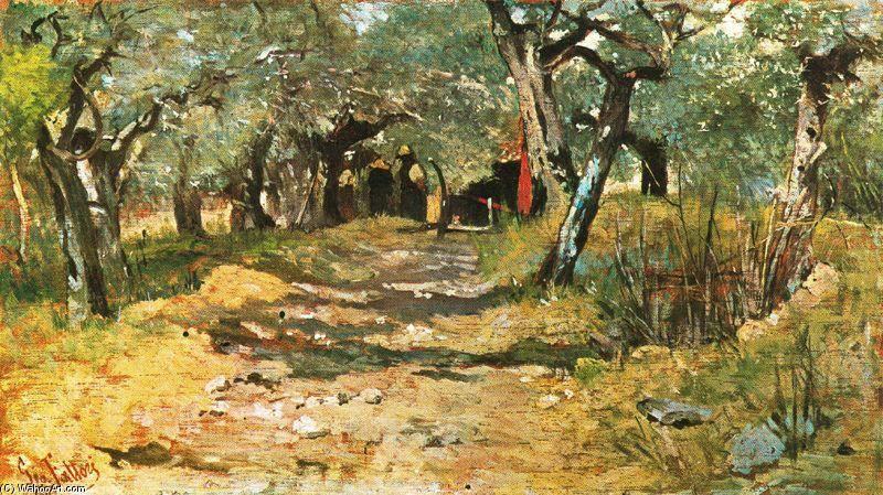 Lane between the olive trees  Giovanni Fattori Paintings  Arte moderna Arte Quadri soggiorno