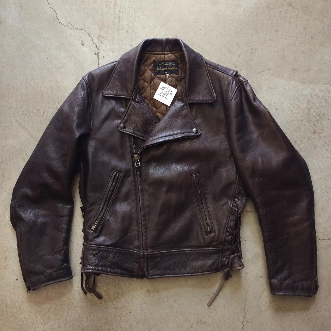 Johnson Leather Custom Made In San Francisco Moto Jacket In Supple