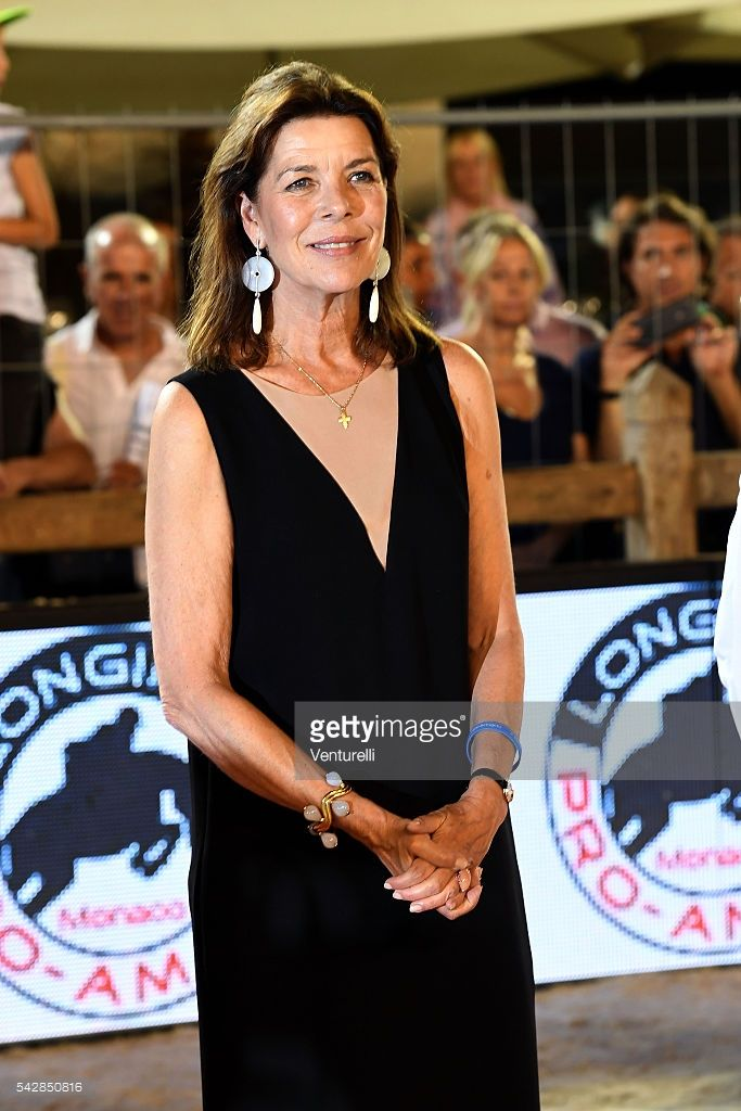 Princess Caroline of Hanover attends Longines Global Champions Tour of Monaco on June 24, 2016 in Monaco, Monaco.