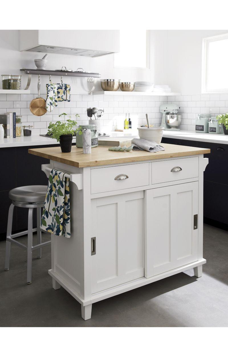 Belmont White Kitchen Island Reviews Crate And Barrel Kitchen Design Black Kitchen Island White Kitchen Island