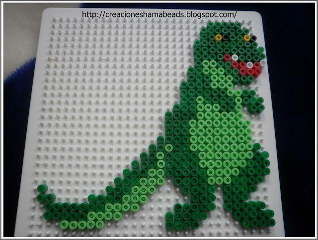 Creaciones Hama Beads Dinosaurios Pixels Dinosaur