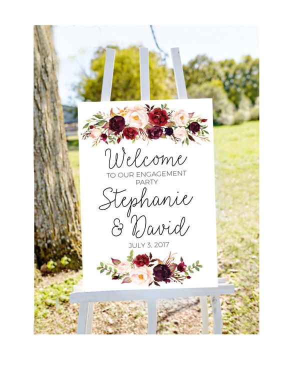 517811cc73a Engagement party welcome sign welcome to our engagement