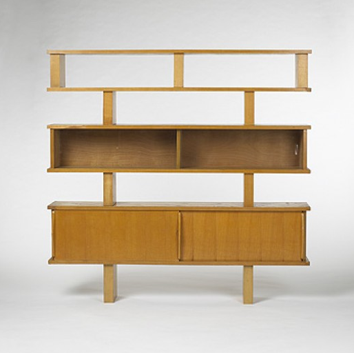 Pierre Jeanneret and Charlotte Perriand, Bookcase, c1948.