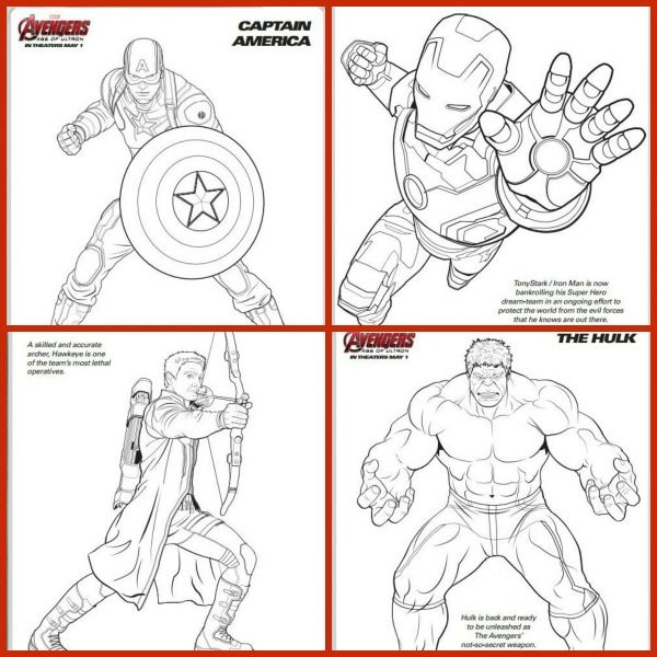 Marvel Avengers Coloring Pages for the Kids Louisa Pinterest