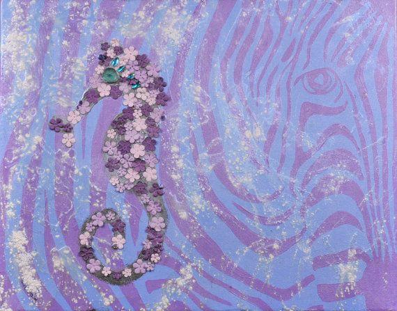 ZEBRA AND SEAHORSE by lalainyastream on Etsy, $750.00