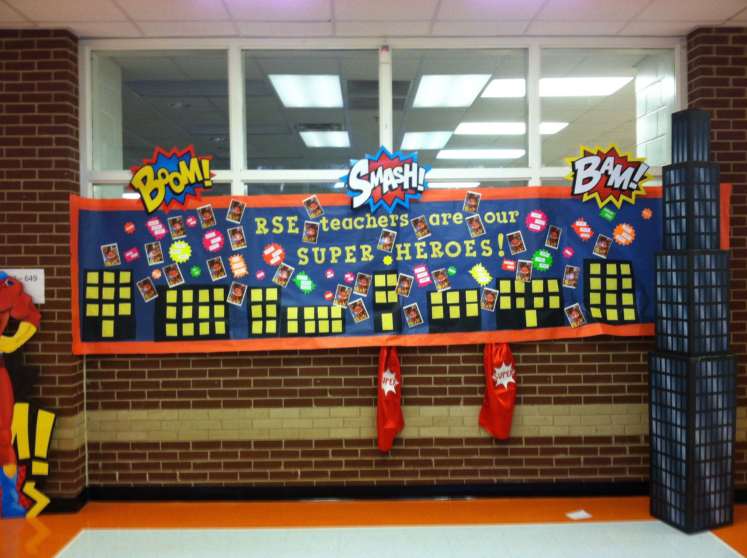 Super Hero Teacher Appreciation Theme At Rock Spring