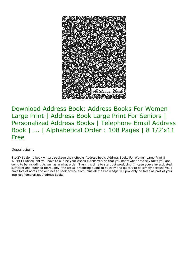 Free Large Print Books For Seniors