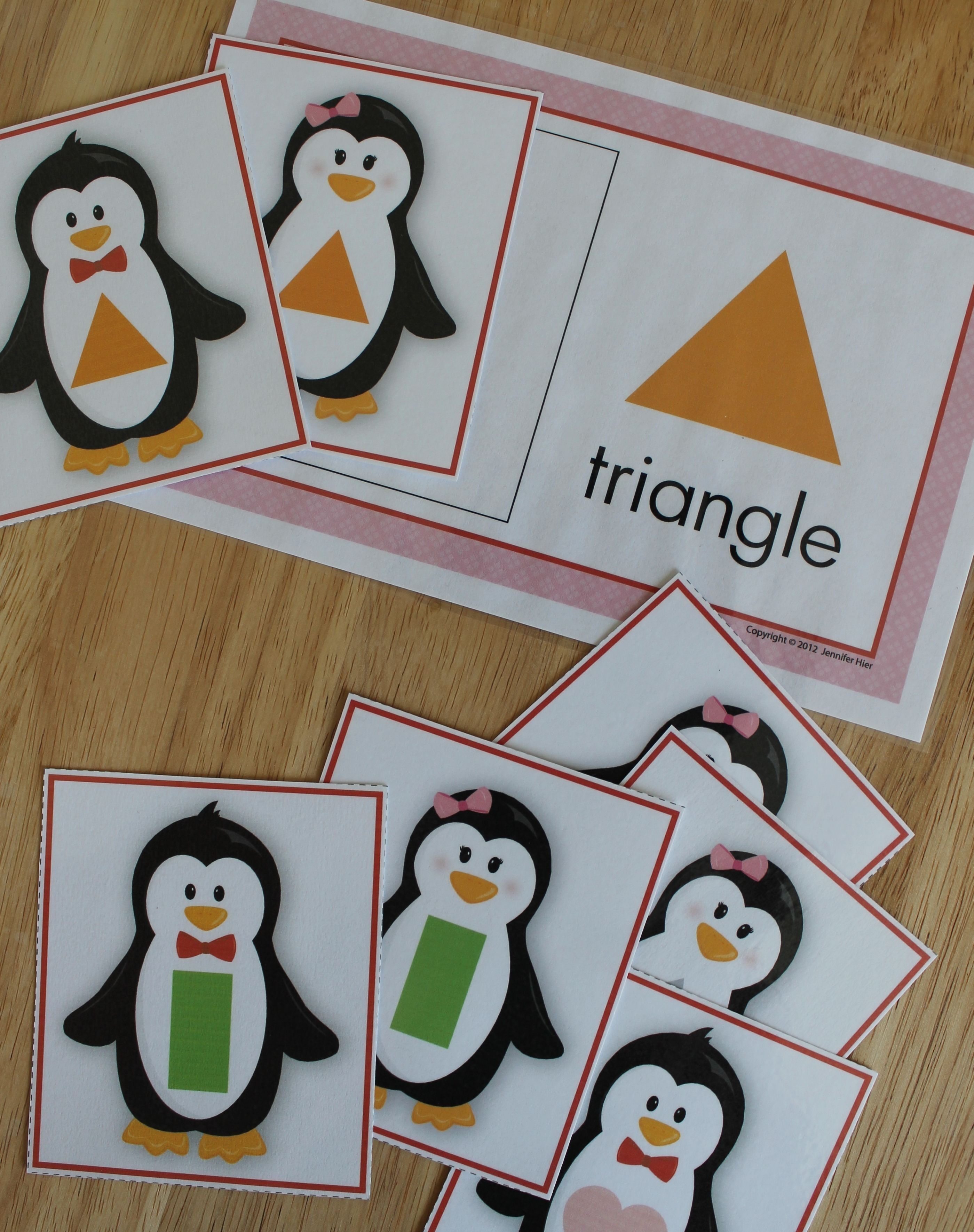 Penguin Shape Sorting Activity For Preschool And Pre K And Tot School Teach Kids How To