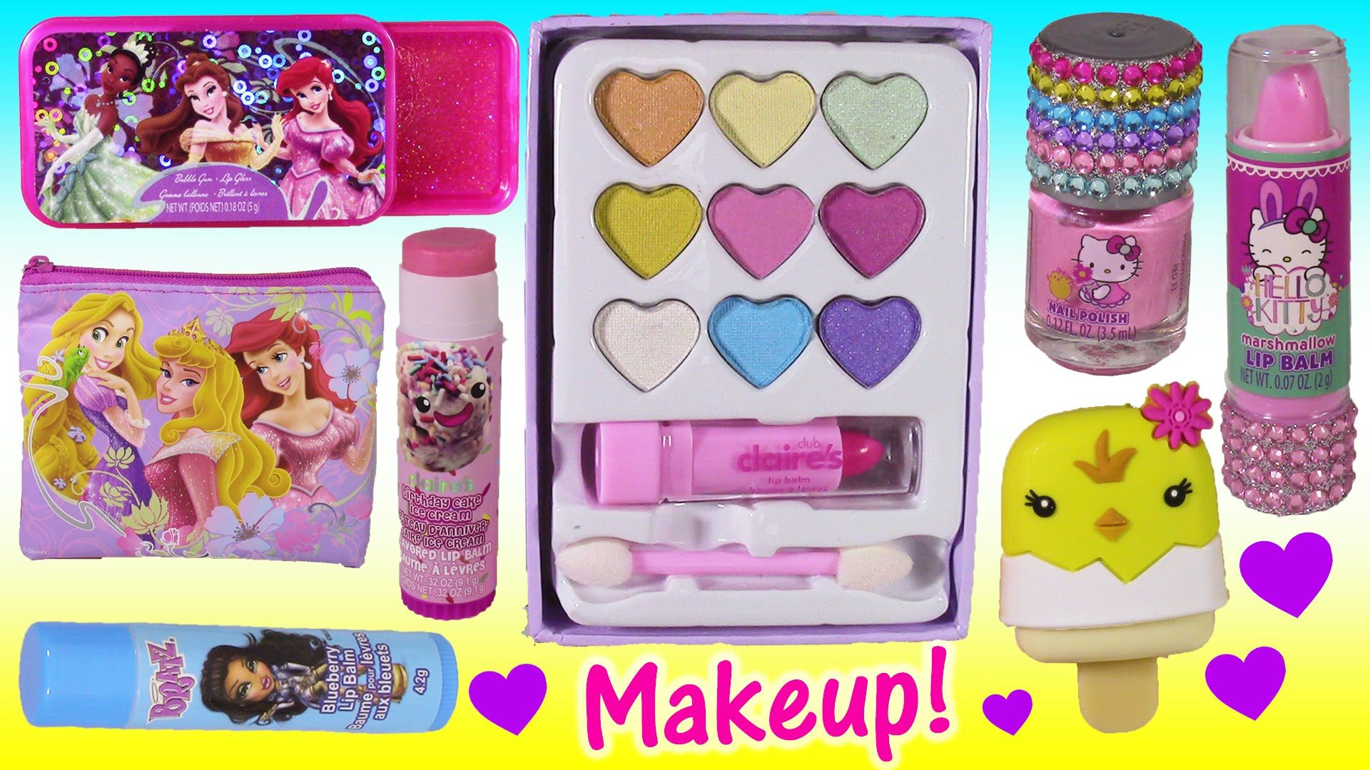 2c2e0f1886 Makeup Beauty Bonanza 2! Lip Balm Hello Kitty Disney Princess Lip GLOSS! Fun  Squishies