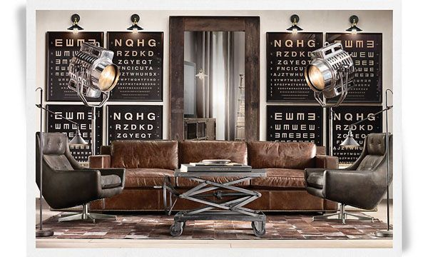 deco salon vintage industriel. Black Bedroom Furniture Sets. Home Design Ideas