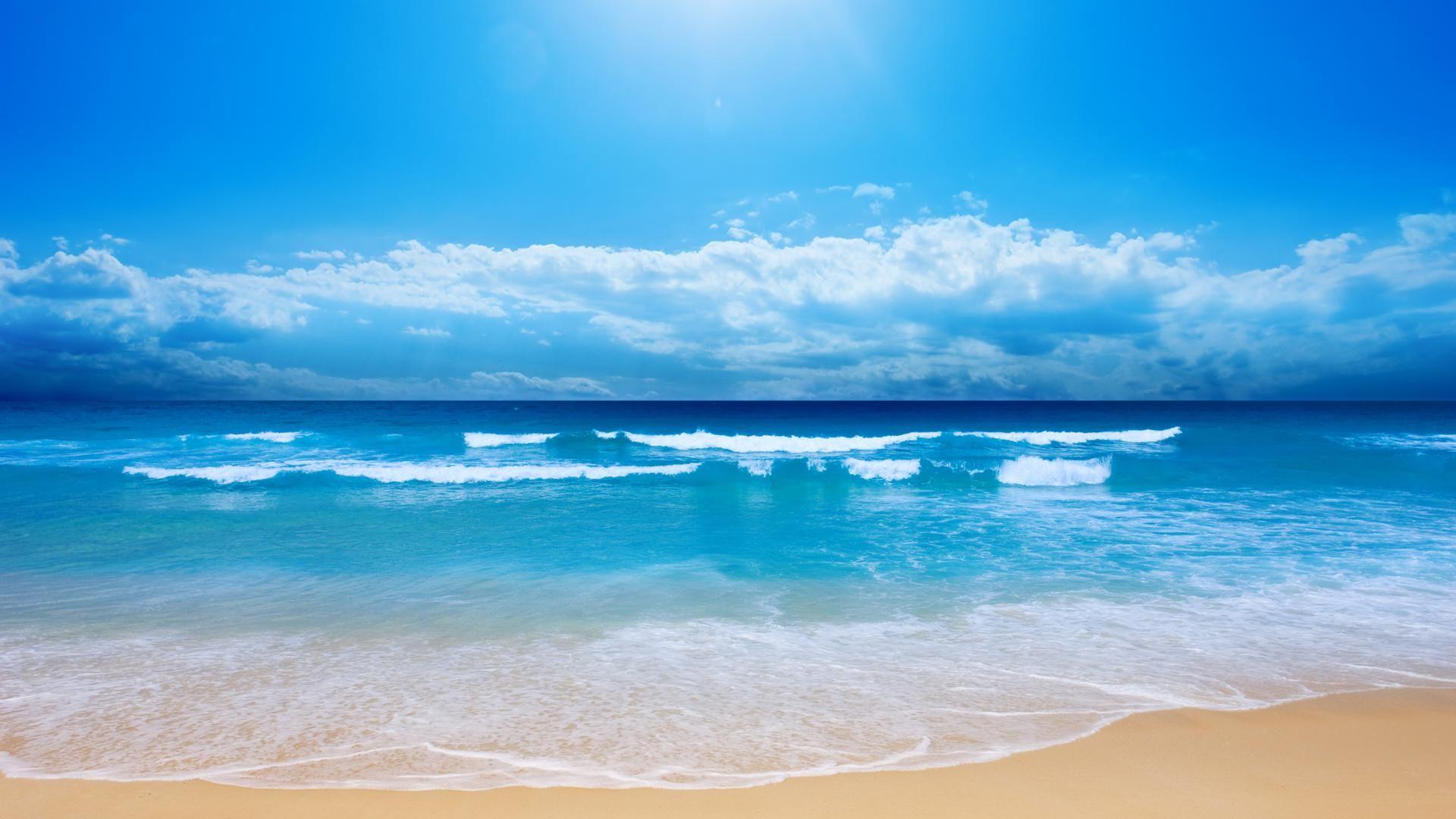 Ocean Desktop Backgrounds 1920x1080 Wallpaper Wallpaper Hd Beach Wall Murals Beach Wallpaper Ocean Pictures