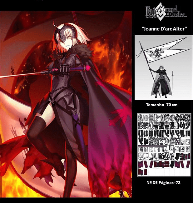 FGO Jeanne d'Arc (Alter) Paper craft (With images