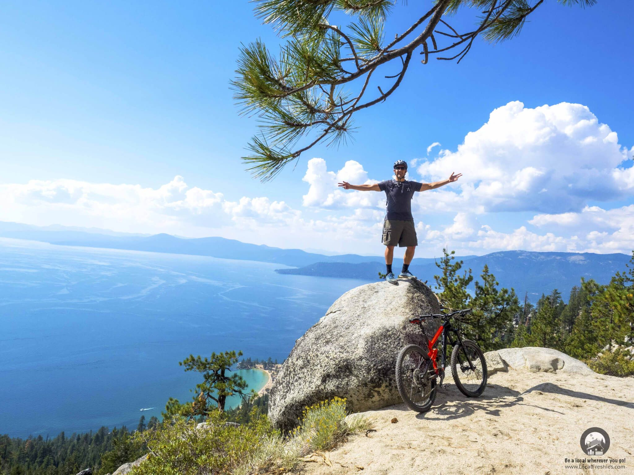 You'll never beat the views from the Flume Trail. We've created the following Lake Tahoe Mountain Bike Trail Guide to give you a taste of what's available to shred (of the dirt kind).    #mountainbiking #mtblaketahoe #laketahoemtb #mountainlife #biking #cycling