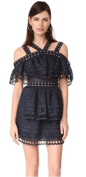 >> Click to Buy << Self Portrait Sexy Women Lace Mini Dress Straped Hollow Out Ruffles Stacked Dress Strapless Short Sleeve High Waist Cake Dress #Affiliate