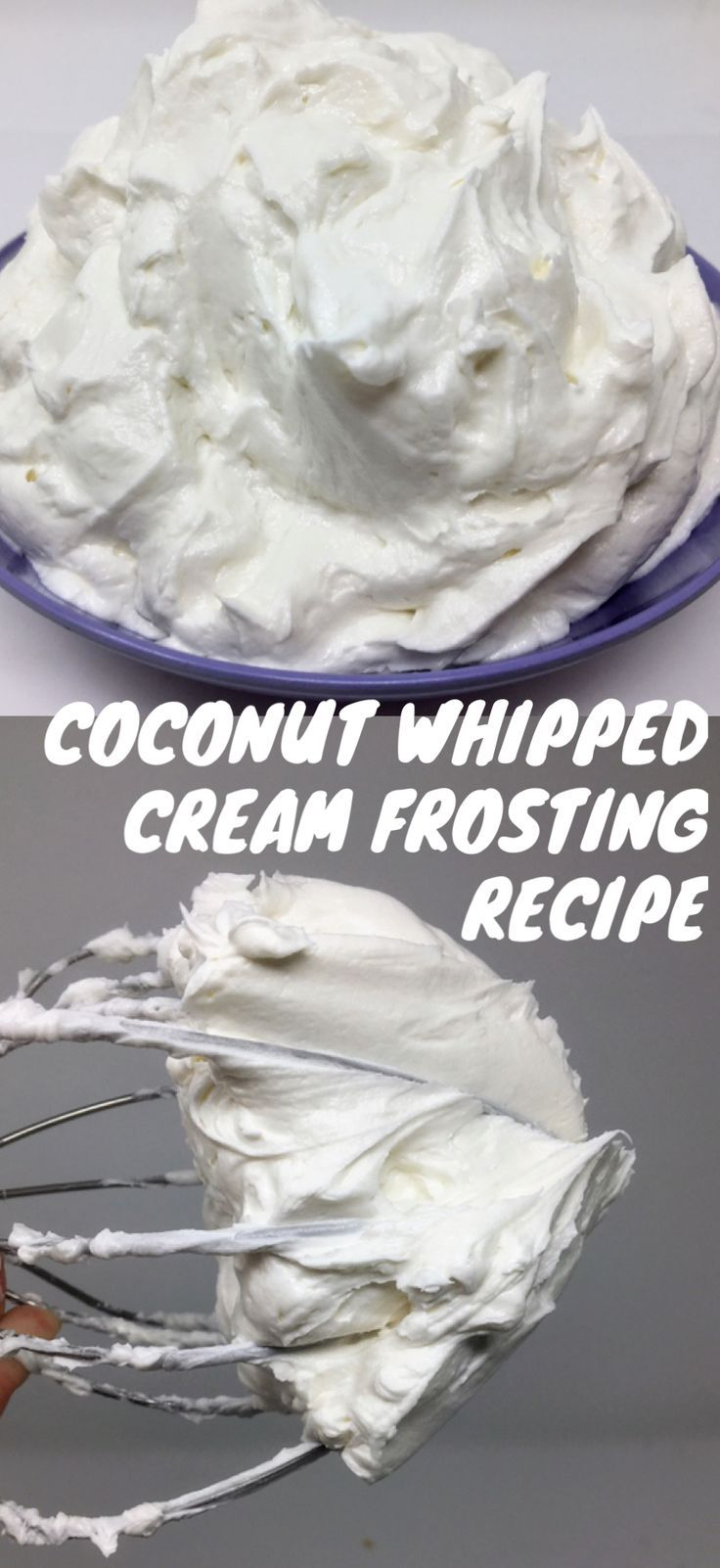 Vegan coconut whipped cream frosting recipe. Simple easy ingredients for baking desserts for holiday occasions. Cupcakes, decorating, and piping. Mocha latte buttercream frosting recipe #cookiesandcreamfrosting