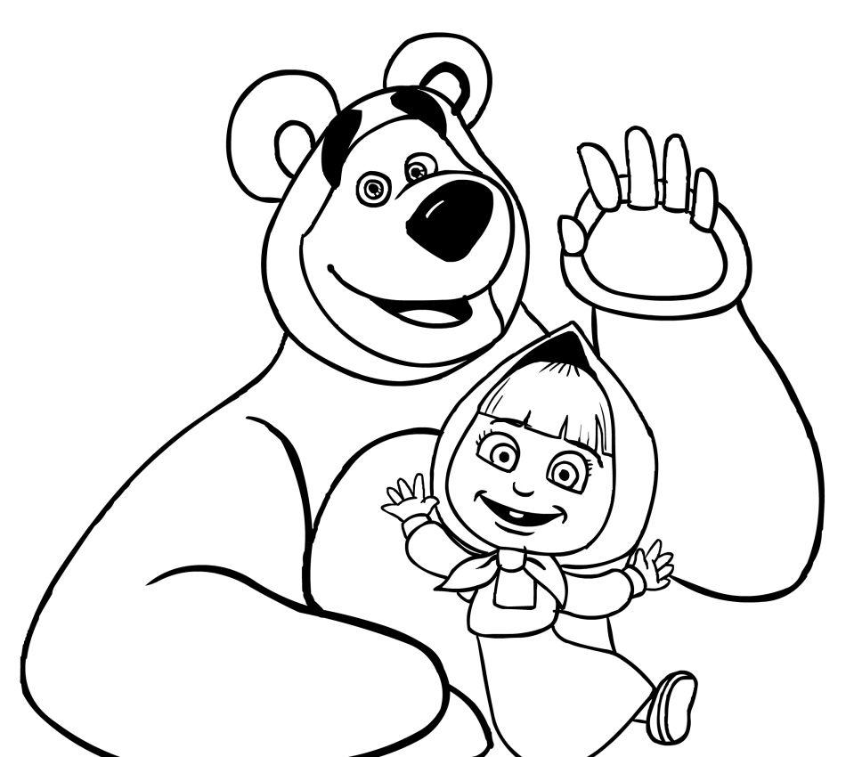 Znalezione Obrazy Dla Zapytania Masza I Niedzwiedz Kolorowanka Bear Coloring Pages Coloring Pages Cartoon Coloring Pages