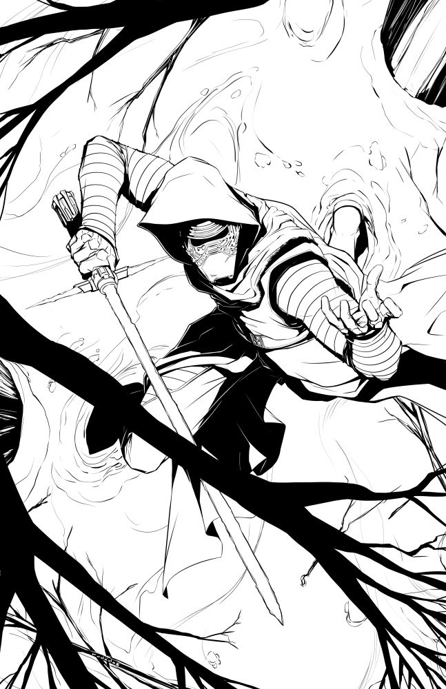 Kylo Ren. Final Inks. by rodavlasalvador on DeviantArt