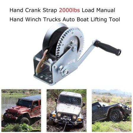 2000 Lb Hand Winch Heavy Duty Strap
