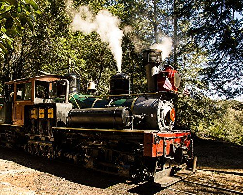 "Train Stop, Steam Train, Santa Cruz, California - Framed Photo Art Print, 11""x 14"" Romagosa Fine Arts http://www.amazon.com/dp/B00Z4F53X0/ref=cm_sw_r_pi_dp_OhKDvb0M0C603"