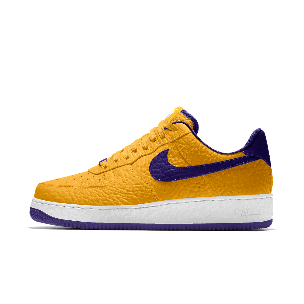a2a4a1bf05 Nike Air Force 1 Low Premium iD (Los Angeles Lakers) Men's Shoe Size 11.5  (Yellow)