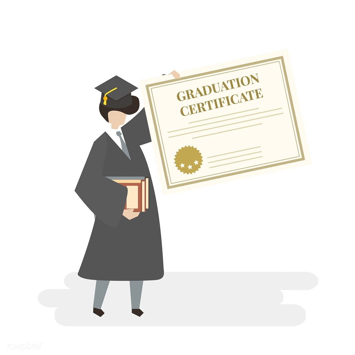 Download Premium Vector Of Illustration Of Graduation Certificate 401763 Graduation Stickers Graduation Graduation Poster