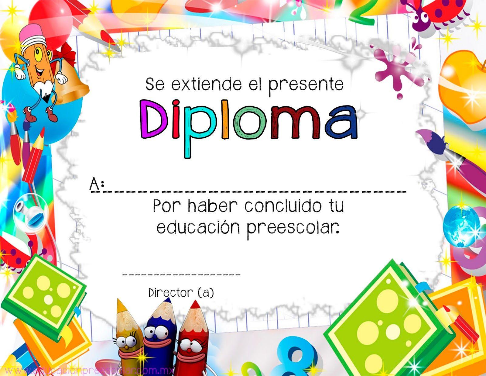 Diplomas para niños y niñas que están culminando su educación ...