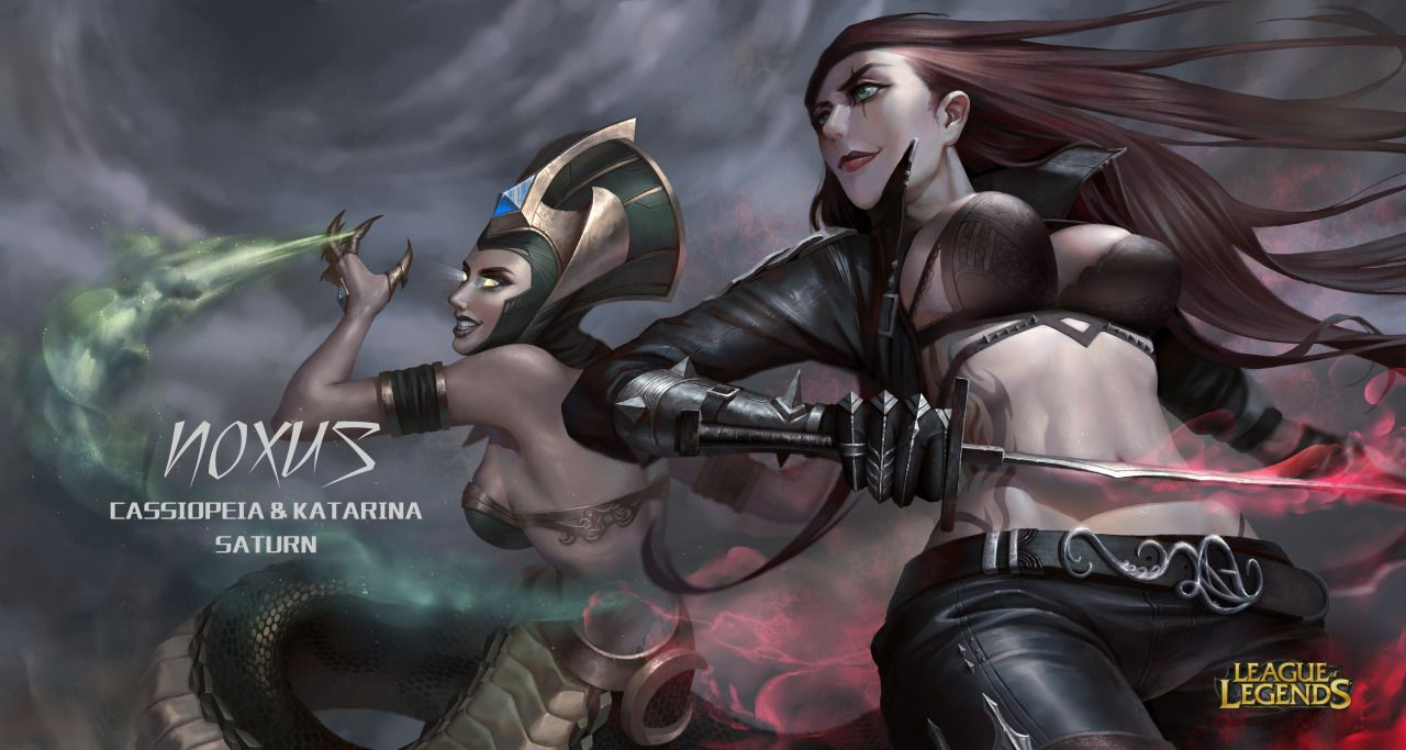 Katarina & Cassiopeia | League of legends, Cassiopeia, League