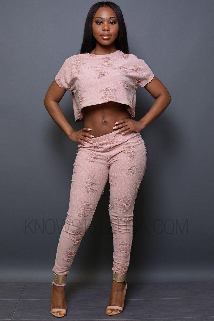 49c0b79a5365fb Rag Crop Top & Pants SET – KNOWSTYLE | KS Crop Tops + Bralettes ...