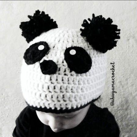 4192e266c6fb1 gorro de oso panda a crochet