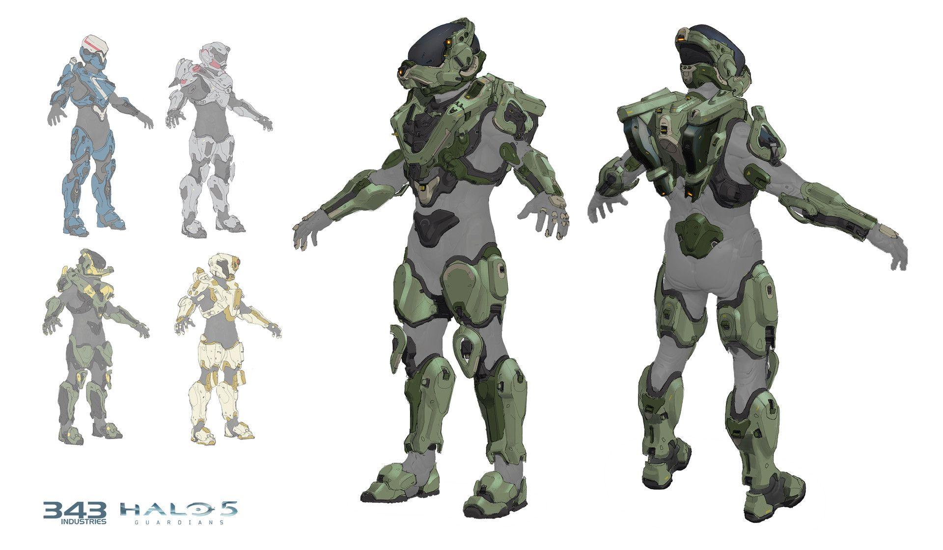 ArtStation - Halo 5: Guardians, Mako Armor Concept, David Heidhoff