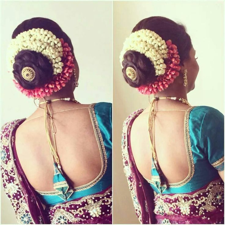 South Indian Bridal Hairstyles For Long Hair With Flowers