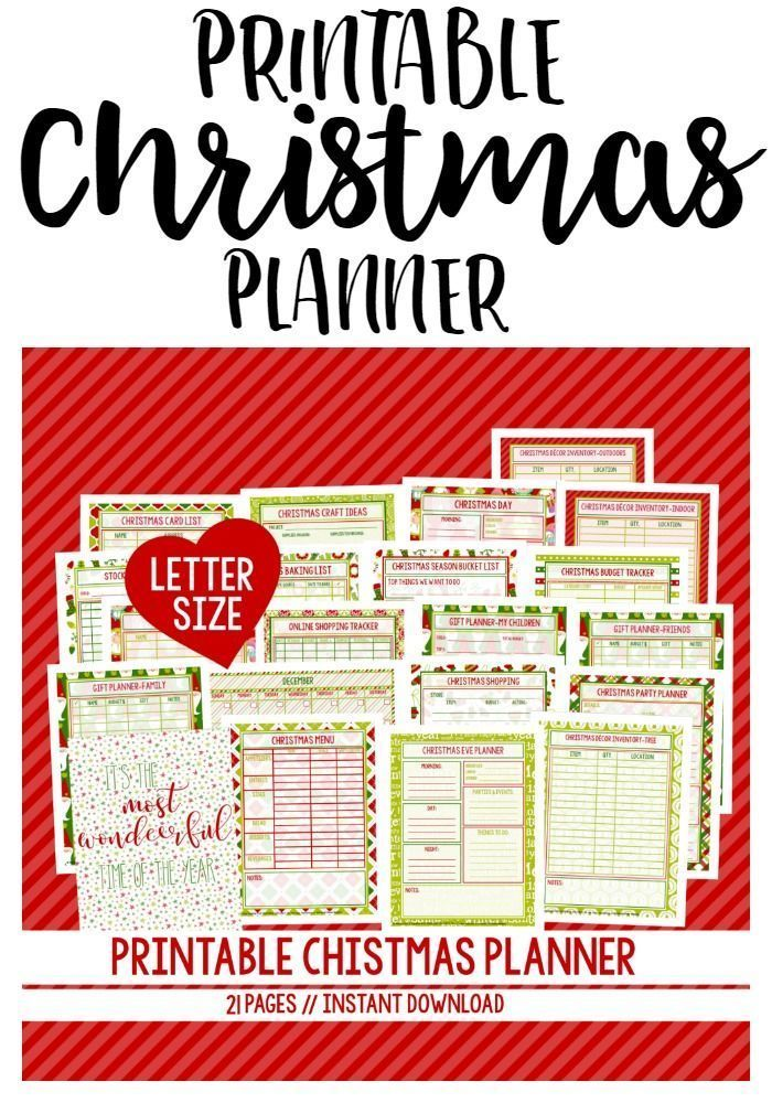 Printable Christmas Planner - includes 21 pages to get you - christmas preparation checklist