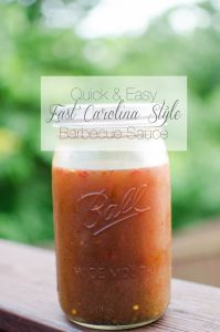 RECIPE | East Carolina-Style Vinegar Based Barbecue Sauce #bbq