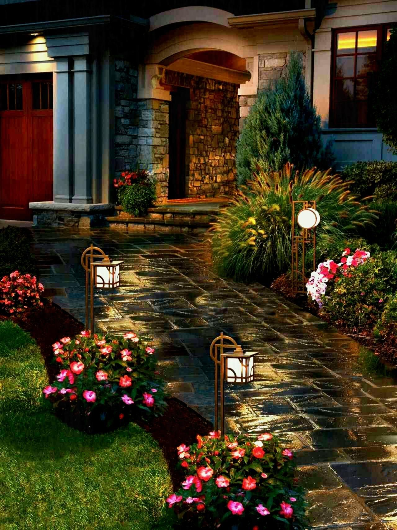 Modern Lighted Path Amazing Diy Front Yard Landscaping Ideas And ...