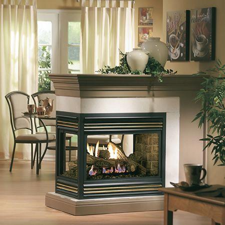 Kingsman Direct Vent Peninsula Fireplace Wood Burning Fireplace