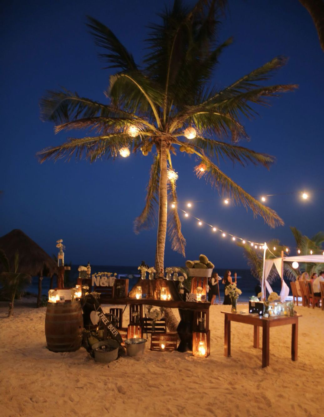 Tequilia Bar For Our Wedding At Akiin Beach Club Tulum