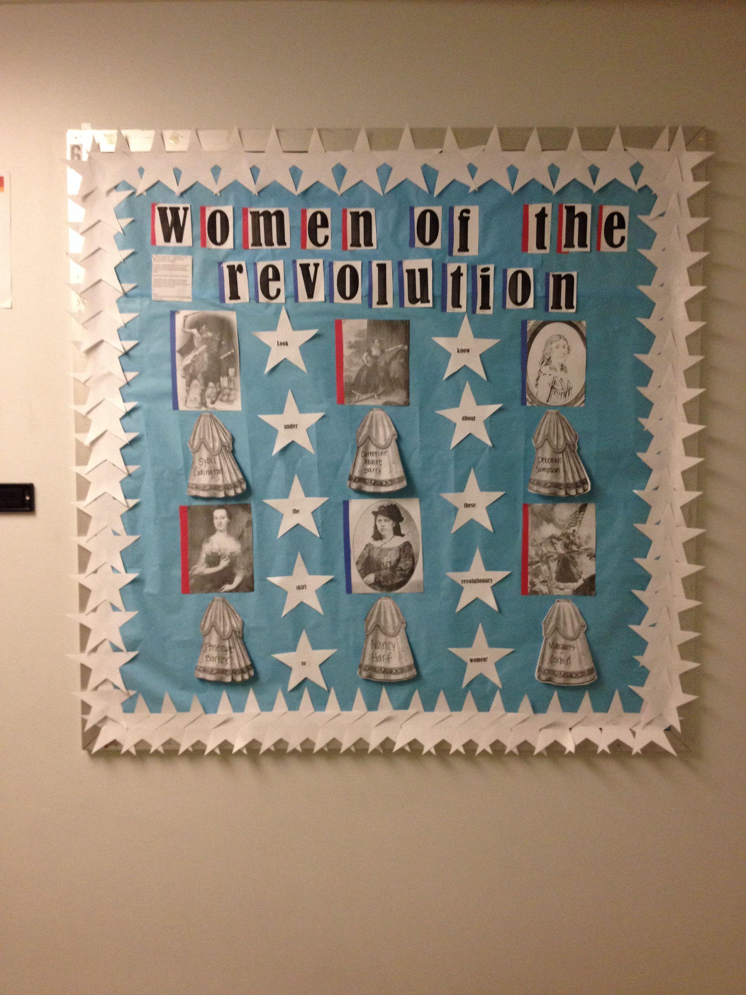 Revolutionary War Bulletin Board Women Of The Revolution