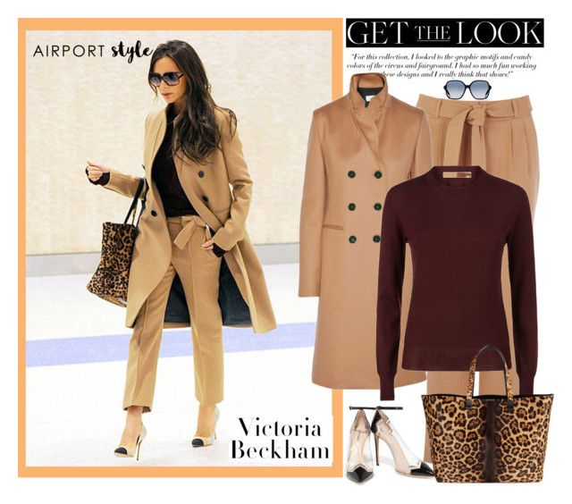 """""""Airport Style: Victoria Beckham"""" by southindianmakeup1990 ❤ liked on Polyvore featuring Victoria Beckham, Nicholas Kirkwood and Oasis"""