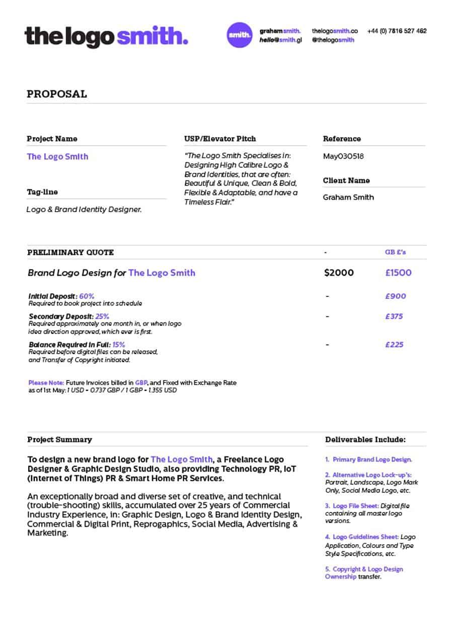 Design Proposal Sheets Google Search Web Design Proposal